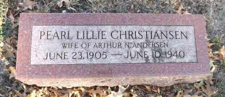 ANDERSEN, PEARL LILLIE - Washington County, Nebraska | PEARL LILLIE ANDERSEN - Nebraska Gravestone Photos