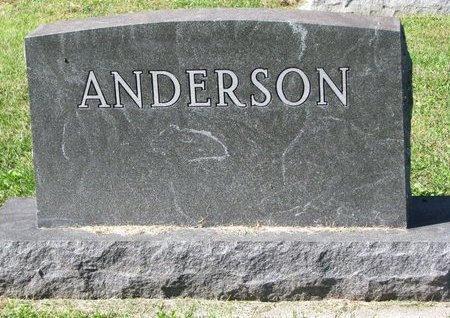 ANDERSON, *FAMILY MONUMENT - Washington County, Nebraska | *FAMILY MONUMENT ANDERSON - Nebraska Gravestone Photos