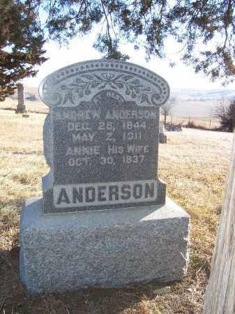 ANDERSON, ANDREW - Washington County, Nebraska   ANDREW ANDERSON - Nebraska Gravestone Photos