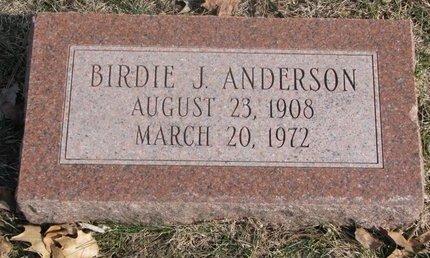 ANDERSON, BIRDIE J. - Washington County, Nebraska   BIRDIE J. ANDERSON - Nebraska Gravestone Photos