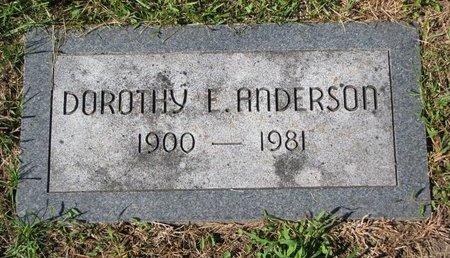 ANDERSON, DOROTHY E. - Washington County, Nebraska   DOROTHY E. ANDERSON - Nebraska Gravestone Photos