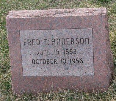 ANDERSON, FRED T. - Washington County, Nebraska | FRED T. ANDERSON - Nebraska Gravestone Photos