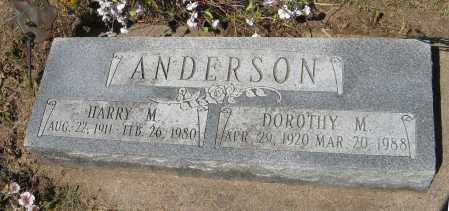 ANDERSON, DOROTHY M. - Washington County, Nebraska | DOROTHY M. ANDERSON - Nebraska Gravestone Photos
