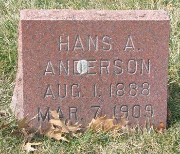 ANDERSON, HANS A. - Washington County, Nebraska | HANS A. ANDERSON - Nebraska Gravestone Photos