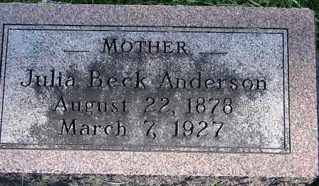 ANDERSON, JULIA - Washington County, Nebraska   JULIA ANDERSON - Nebraska Gravestone Photos