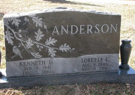 ANDERSON, LORETTA L. - Washington County, Nebraska | LORETTA L. ANDERSON - Nebraska Gravestone Photos