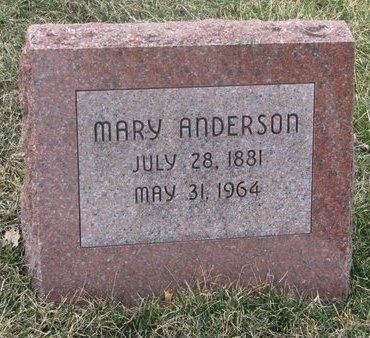 ANDERSON, MARY - Washington County, Nebraska | MARY ANDERSON - Nebraska Gravestone Photos
