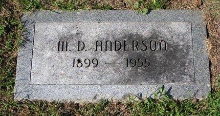 ANDERSON, MARCUS DANIELS - Washington County, Nebraska | MARCUS DANIELS ANDERSON - Nebraska Gravestone Photos