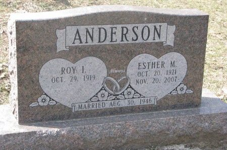 ANDERSON, ESTHER M. - Washington County, Nebraska | ESTHER M. ANDERSON - Nebraska Gravestone Photos