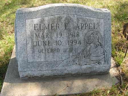APPEL, ELMER E. - Washington County, Nebraska   ELMER E. APPEL - Nebraska Gravestone Photos