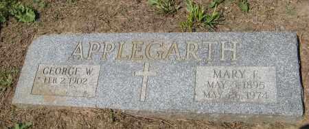 APPLEGARTH, MARY F - Washington County, Nebraska | MARY F APPLEGARTH - Nebraska Gravestone Photos