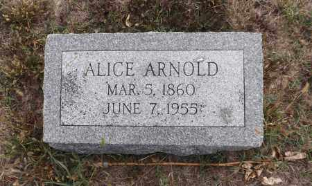 ARNOLD, ALICE - Washington County, Nebraska | ALICE ARNOLD - Nebraska Gravestone Photos