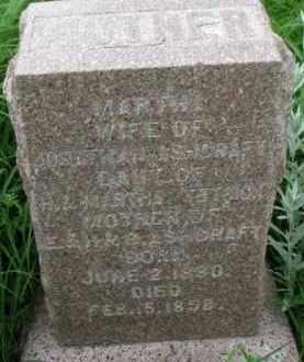ASHCRAFT, MARTHA - Washington County, Nebraska | MARTHA ASHCRAFT - Nebraska Gravestone Photos