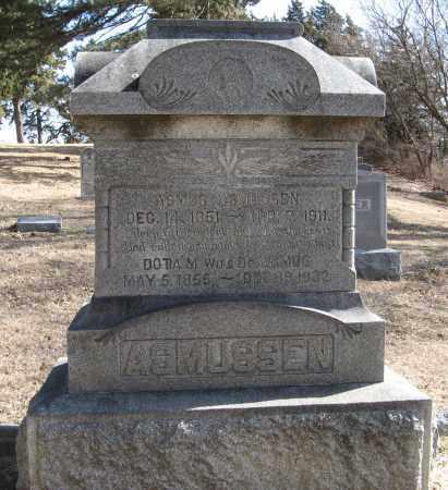 ASMUSSEN, ASMUS - Washington County, Nebraska   ASMUS ASMUSSEN - Nebraska Gravestone Photos