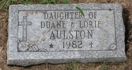 AULSTON, INFANT DAUGHTER - Washington County, Nebraska | INFANT DAUGHTER AULSTON - Nebraska Gravestone Photos