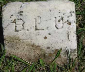 B.L.U., .UNKNOWN - Washington County, Nebraska | .UNKNOWN B.L.U. - Nebraska Gravestone Photos