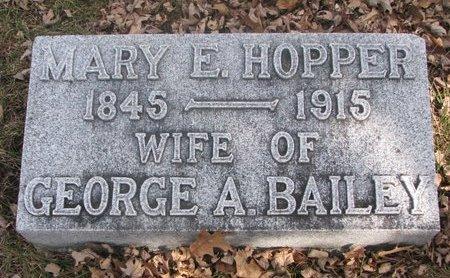 BAILEY, MARY E. - Washington County, Nebraska | MARY E. BAILEY - Nebraska Gravestone Photos