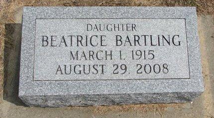 BARTLING, BEATRICE - Washington County, Nebraska | BEATRICE BARTLING - Nebraska Gravestone Photos