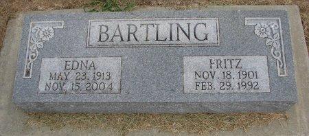 BARTLING, FRITZ - Washington County, Nebraska | FRITZ BARTLING - Nebraska Gravestone Photos