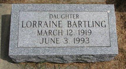 BARTLING, LORRAINE - Washington County, Nebraska | LORRAINE BARTLING - Nebraska Gravestone Photos