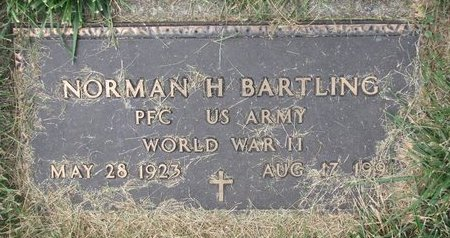 BARTLING, NORMAN H. (MILITARY) - Washington County, Nebraska | NORMAN H. (MILITARY) BARTLING - Nebraska Gravestone Photos