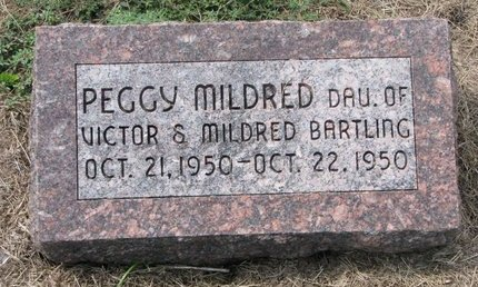 BARTLING, PEGGY MILDRED - Washington County, Nebraska | PEGGY MILDRED BARTLING - Nebraska Gravestone Photos