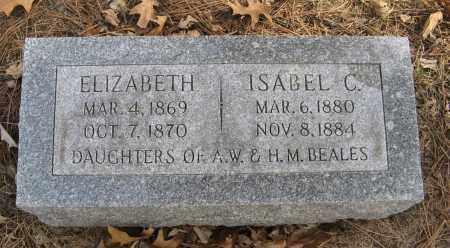 BEALES, ELIZABETH - Washington County, Nebraska   ELIZABETH BEALES - Nebraska Gravestone Photos