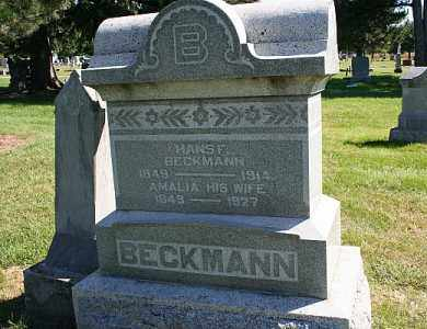 BECKMANN, HANS F. - Washington County, Nebraska   HANS F. BECKMANN - Nebraska Gravestone Photos
