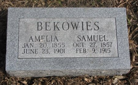 BEKOWIES, AMELIA - Washington County, Nebraska | AMELIA BEKOWIES - Nebraska Gravestone Photos