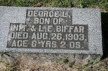 BIFFAR, GEORGE L. - Washington County, Nebraska | GEORGE L. BIFFAR - Nebraska Gravestone Photos