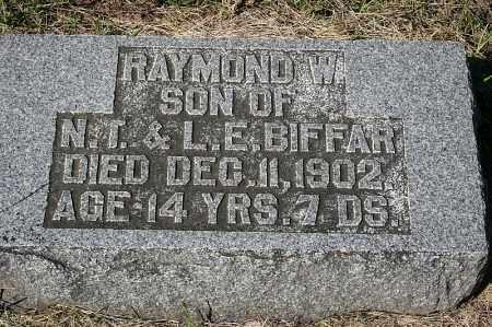 BIFFAR, RAYMOND W. - Washington County, Nebraska   RAYMOND W. BIFFAR - Nebraska Gravestone Photos