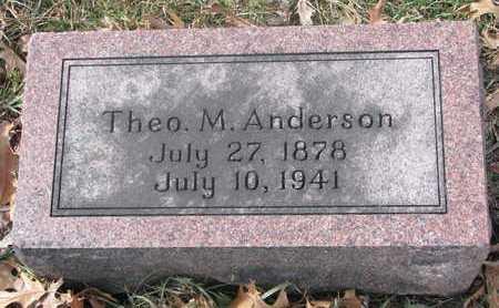 ANDERSON, THEO. M. - Washington County, Nebraska | THEO. M. ANDERSON - Nebraska Gravestone Photos