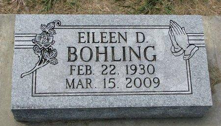 BOHLING, EILEEN D. - Washington County, Nebraska | EILEEN D. BOHLING - Nebraska Gravestone Photos