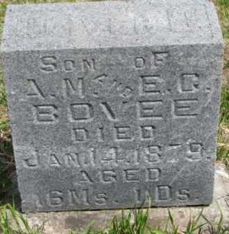 BOVEE, OLIVER B. - Washington County, Nebraska | OLIVER B. BOVEE - Nebraska Gravestone Photos