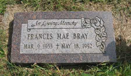 BRAY, FRANCES MAE - Washington County, Nebraska   FRANCES MAE BRAY - Nebraska Gravestone Photos
