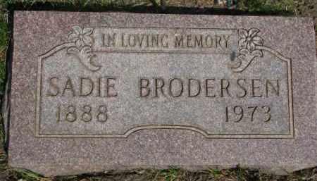 BRODERSEN, SADIE - Washington County, Nebraska | SADIE BRODERSEN - Nebraska Gravestone Photos