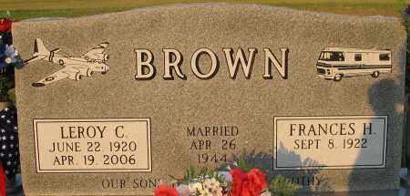 BROWN, FRANCES H. - Washington County, Nebraska | FRANCES H. BROWN - Nebraska Gravestone Photos