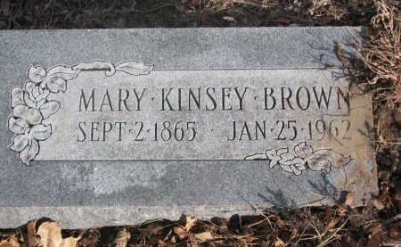 BROWN, MARY KINSLEY - Washington County, Nebraska | MARY KINSLEY BROWN - Nebraska Gravestone Photos