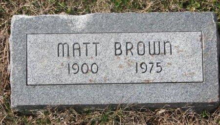 BROWN, MATT - Washington County, Nebraska   MATT BROWN - Nebraska Gravestone Photos