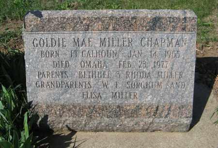 MILLER CHAPMAN, GOLDIE MAE - Washington County, Nebraska | GOLDIE MAE MILLER CHAPMAN - Nebraska Gravestone Photos