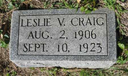 CRAIG, LESLIE V. - Washington County, Nebraska | LESLIE V. CRAIG - Nebraska Gravestone Photos