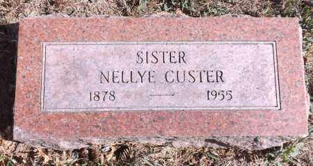 CUSTER, NELLYE - Washington County, Nebraska | NELLYE CUSTER - Nebraska Gravestone Photos
