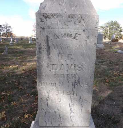 DAVIS, ANN E. (CLOSE UP) - Washington County, Nebraska | ANN E. (CLOSE UP) DAVIS - Nebraska Gravestone Photos