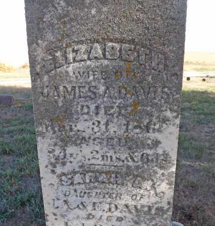 DAVIS, ELIZABETH (CLOSE UP) - Washington County, Nebraska   ELIZABETH (CLOSE UP) DAVIS - Nebraska Gravestone Photos