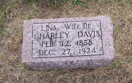 DAVIS, LINA - Washington County, Nebraska | LINA DAVIS - Nebraska Gravestone Photos