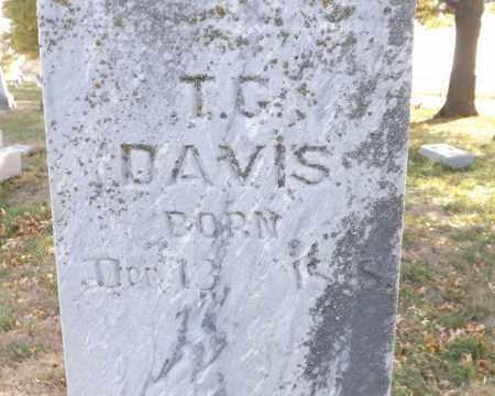 DAVIS, T. G. (CLOSE UP) - Washington County, Nebraska | T. G. (CLOSE UP) DAVIS - Nebraska Gravestone Photos