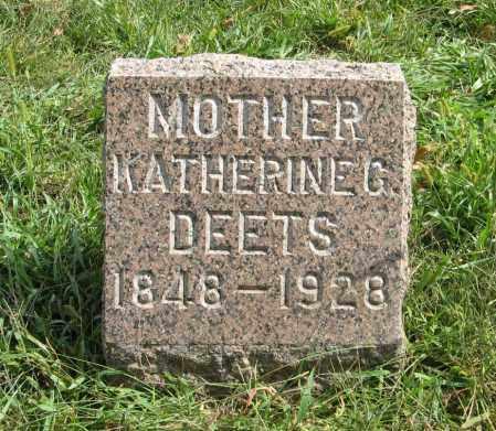 DEETS, KATHERINE G. - Washington County, Nebraska | KATHERINE G. DEETS - Nebraska Gravestone Photos