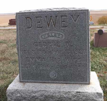 DEWEY, GEORGE W. - Washington County, Nebraska   GEORGE W. DEWEY - Nebraska Gravestone Photos