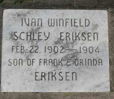 ERIKSEN, IVAN WINFIELD SCHLEY - Washington County, Nebraska | IVAN WINFIELD SCHLEY ERIKSEN - Nebraska Gravestone Photos