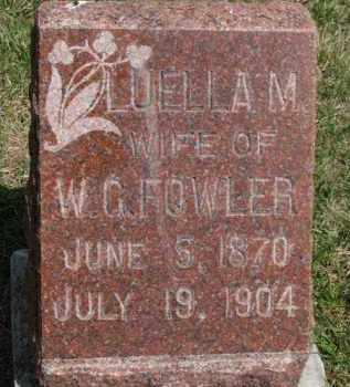FOWLER, LUELLA M. - Washington County, Nebraska   LUELLA M. FOWLER - Nebraska Gravestone Photos
